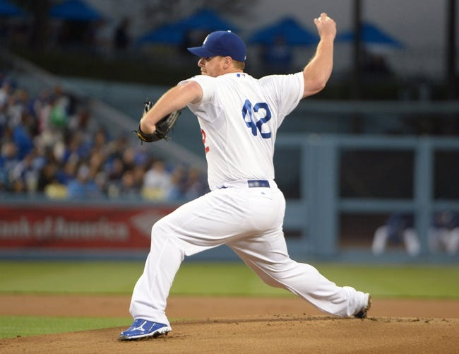Apr 15, 2013; Los Angeles, CA, USA; Los Angeles Dodgers pitcher Chad Billingsley delivers a pitch against the San Diego Padres at Dodger Stadium. Mandatory Credit: Kirby Lee-USA TODAY Sports