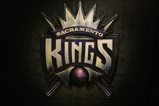April 14, 2013; Houston, TX, USA; Sacramento Kings logo on a wall during a game against the Houston Rockets in the third quarter at the Toyota Center. The Rockets defeated the Kings 121-100. Mandatory Credit: Brett Davis-USA TODAY Sports