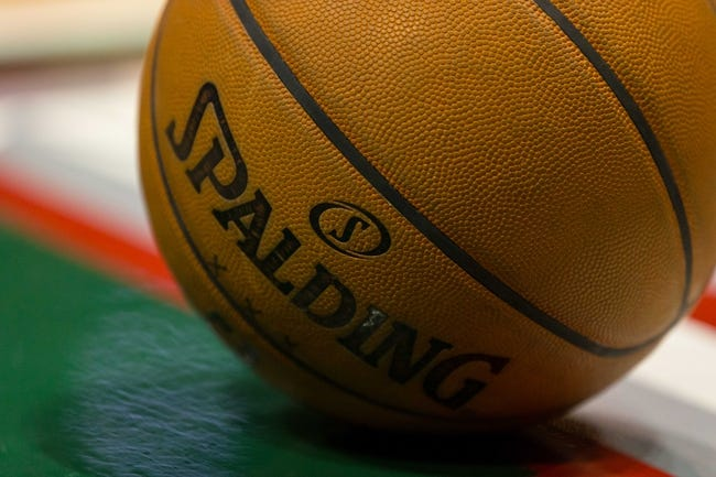 Apr 15, 2013; Milwaukee, WI, USA;  An NBA basketball rests on the court during the game between the Denver Nuggets and Milwaukee Bucks at the BMO Harris Bradley Center.  Denver won 112-111.  Mandatory Credit: Jeff Hanisch-USA TODAY Sports