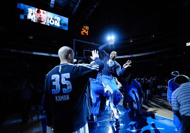 Apr 15, 2013; Dallas, TX, USA; Dallas Mavericks small forward Shawn Marion (0) is introduced before the game against the Memphis Grizzlies at the American Airlines Center. Mandatory Credit: Jerome Miron-USA TODAY Sports