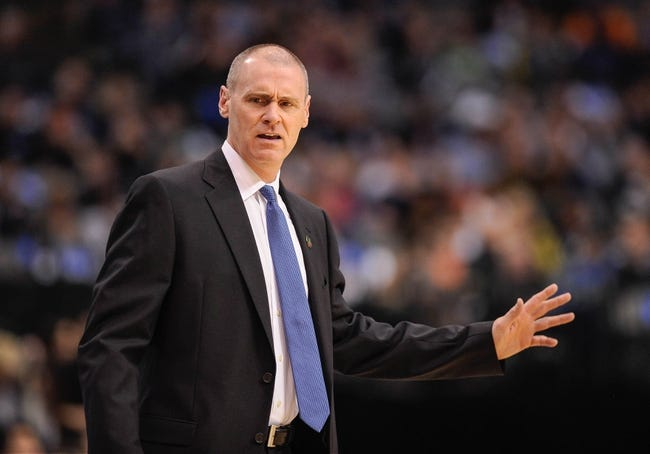 Apr 10, 2013; Dallas, TX, USA; Dallas Mavericks head coach Rick Carlisle reacts to a call during the game between the Mavericks and the Phoenix Suns at the American Airlines Center. The Suns defeated the Mavericks 102-91. Mandatory Credit: Jerome Miron-USA TODAY Sports
