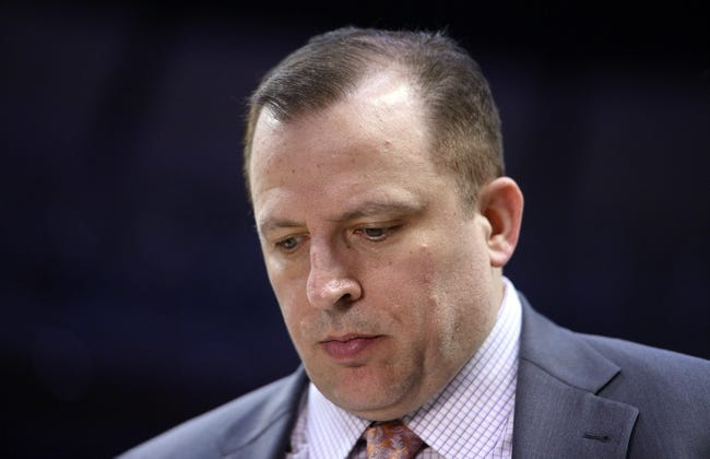 Apr 27, 2013; Chicago, IL, USA; Chicago Bulls head coach Tom Thibodeau during a time out against the Brooklyn Nets in the second half during game four of the first round of the 2013 NBA playoffs at the United Center. Chicago defeats Brooklyn 142-134 in triple overtime. Mandatory Credit: Mike DiNovo-USA TODAY Sports