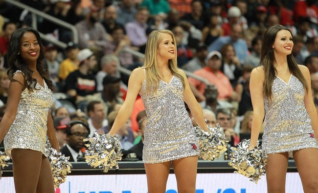 Apr 29, 2013; Atlanta, GA, USA; Atlanta Hawks cheerleaders during game four of the first round of the 2013 NBA playoffs at Philips Arena. Mandatory Credit: Marvin Gentry-USA TODAY Sports