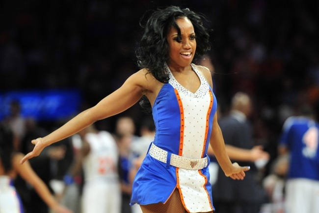 May 1, 2013; New York, NY, USA; The Knicks City Dancers perform during the first half in game five of the first round of the 2013 NBA Playoffs between the New York Knicks and Boston Celtics at Madison Square Garden. Mandatory Credit: Joe Camporeale-USA TODAY Sports