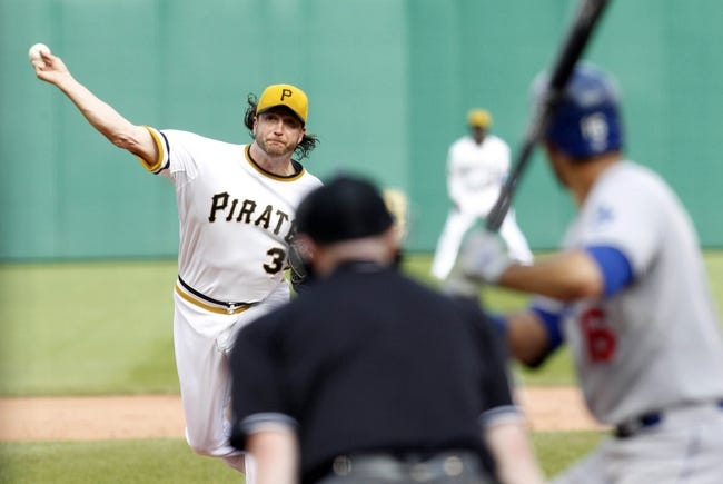 Jun 16, 2013; Pittsburgh, PA, USA; Pittsburgh Pirates relief pitcher Jason Grilli (39) pitches against Los Angeles Dodgers right fielder Andre Ethier (16) during the ninth inning at PNC Park. The Pittsburgh Pirates won 6-3. Mandatory Credit: Charles LeClaire-USA TODAY Sports