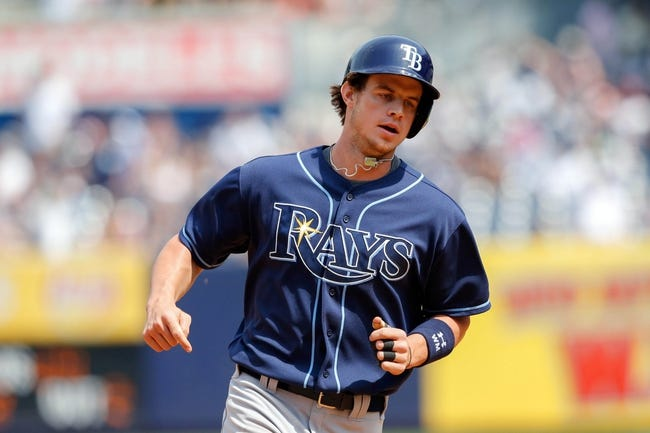 Jun 22, 2013; Bronx, NY, USA;  Tampa Bay Rays right fielder Wil Myers (9) rounds the bases after hitting a grand slam during the sixth inning against the New York Yankees at Yankee Stadium.  Mandatory Credit: Anthony Gruppuso-USA TODAY Sports