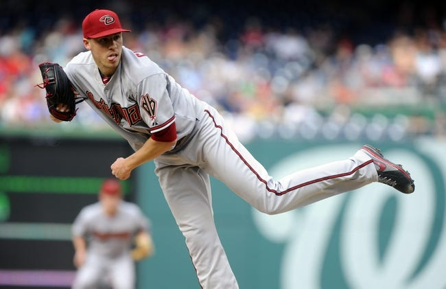 Jun 27, 2013; Washington, DC, USA; Arizona Diamondbacks starting pitcher Patrick Corbin (46) throws during the first inning against the Washington Nationals at Nationals Park. Mandatory Credit: Brad Mills-USA TODAY Sports