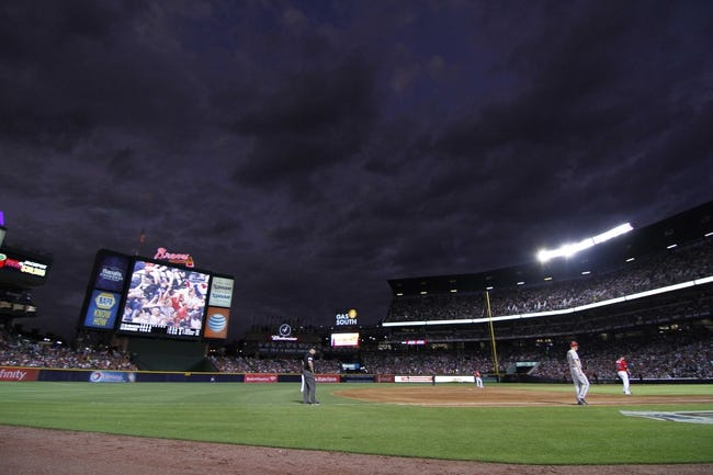 Jun 28, 2013; Atlanta, GA, USA; General view of the sky at Turner Field during a game between the Atlanta Braves and Arizona Diamondbacks in the fourth inning at Turner Field. Mandatory Credit: Brett Davis-USA TODAY Sports