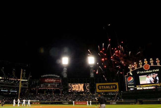 Jul 2, 2013; Chicago, IL, USA; Fireworks are set off after the game between the Chicago White Sox and the Baltimore Orioles at U.S. Cellular Field. White Sox defeated the Orioles 5-2. Mandatory Credit: Reid Compton-USA TODAY Sports