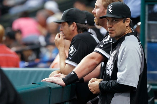Jul 5, 2013; St. Petersburg, FL, USA; Chicago White Sox manager Robin Ventura (23) against the Tampa Bay Rays at Tropicana Field. Mandatory Credit: Kim Klement-USA TODAY Sports