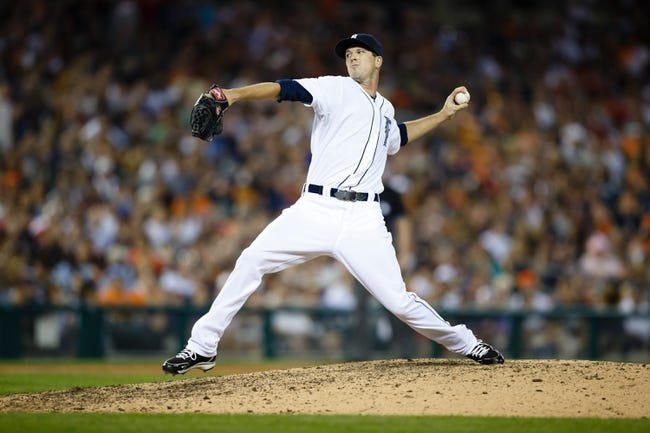July 12, 2013; Detroit, MI, USA; Detroit Tigers relief pitcher Drew Smyly (33) pitches against the Texas Rangers at Comerica Park. Mandatory Credit: Rick Osentoski-USA TODAY Sports