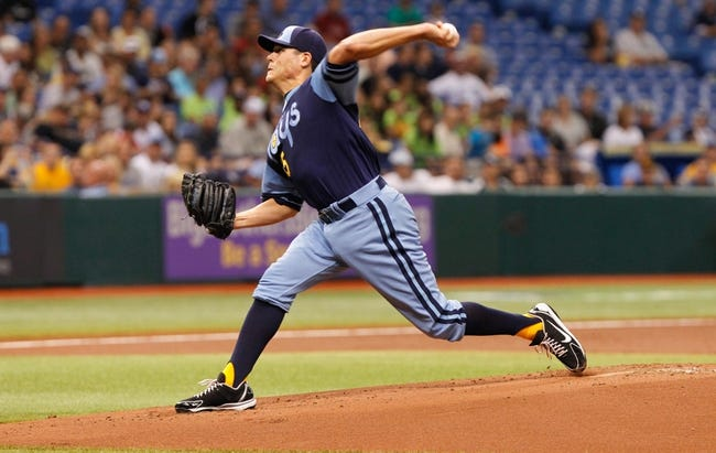 Jul 6, 2013; St. Petersburg, FL, USA; Tampa Bay Rays starting pitcher Matt Moore (55) throws a pitch against the Chicago White Sox at Tropicana Field. Mandatory Credit: Kim Klement-USA TODAY Sports