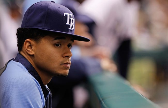 Jul 10, 2013; St. Petersburg, FL, USA; Tampa Bay Rays starting pitcher Chris Archer (22) against the Minnesota Twins at Tropicana Field. Tampa Bay Rays defeated the Minnesota Twins 4-3 in thirteen inning. Mandatory Credit: Kim Klement-USA TODAY Sports