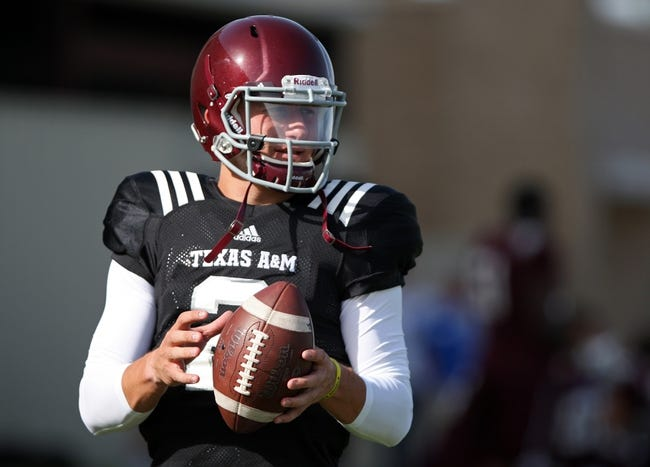 Aug 7, 2013; College Station, TX, USA; Texas A&M Aggies quarterback Johnny Manziel (2) practices at Coolidge Field. Mandatory Credit: Troy Taormina-USA TODAY Sports