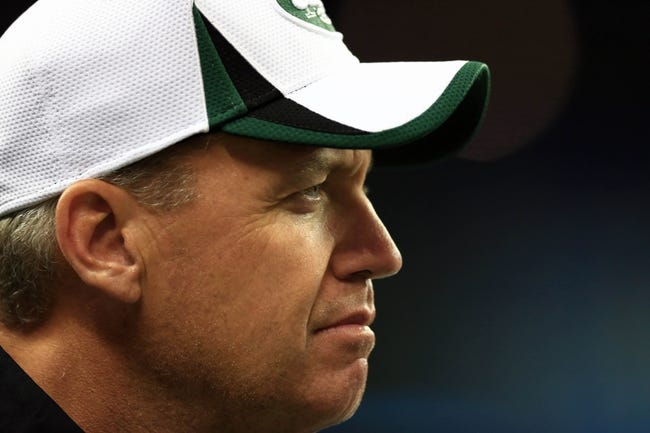Aug 9, 2013; Detroit, MI, USA; New York Jets head coach Rex Ryan during a preseason game against the Detroit Lions at Ford Field. Mandatory Credit: Andrew Weber-USA TODAY Sports