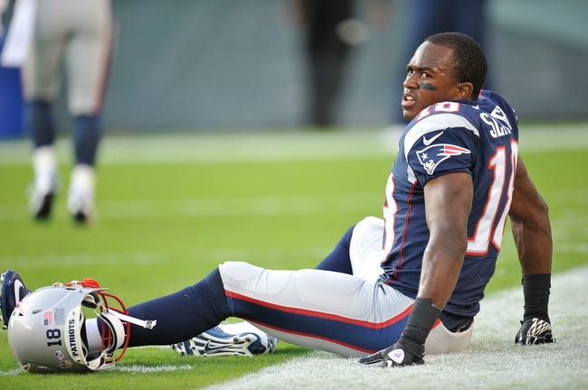 Aug 9, 2013; Philadelphia, PA, USA; New England Patriots wide receiver Matthew Slater (18) looks on before the first half of a preseason game against the Philadelphia Eagles at Lincoln Financial Field. The Patriots won 31-22. Mandatory Credit: Joe Camporeale-USA TODAY Sports