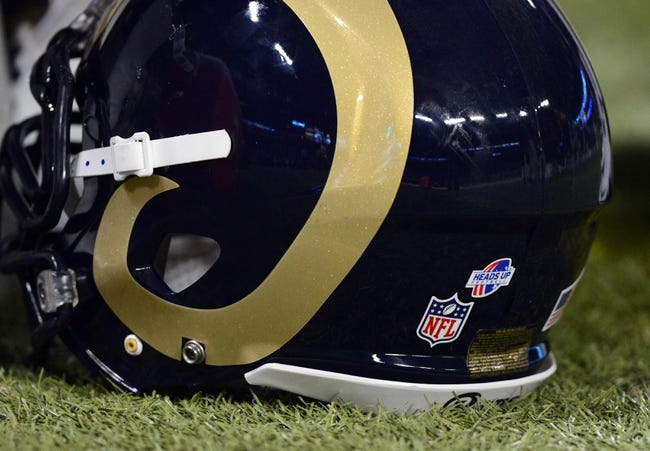 Aug 17, 2013; St. Louis, MO, USA; St. Louis Rams helmet during a game against the Green Bay Packers at the Edward Jones Dome. Mandatory Credit: Jeff Curry-USA TODAY Sports
