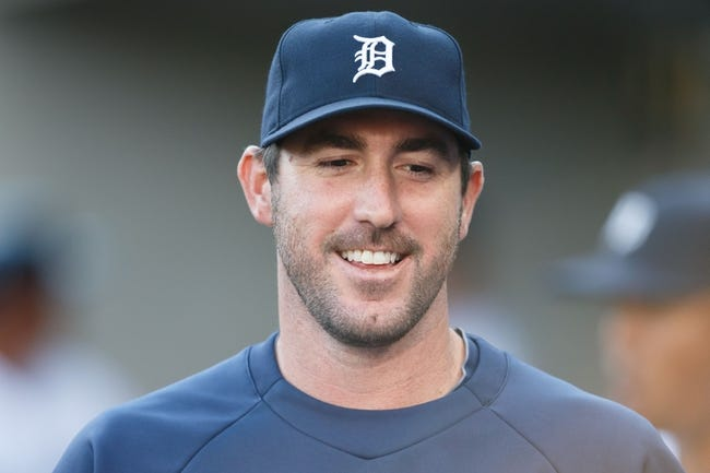 Aug 3, 2013; Detroit, MI, USA; Detroit Tigers starting pitcher Justin Verlander (35) in the dugout against the Chicago White Sox at Comerica Park. Mandatory Credit: Rick Osentoski-USA TODAY Sports