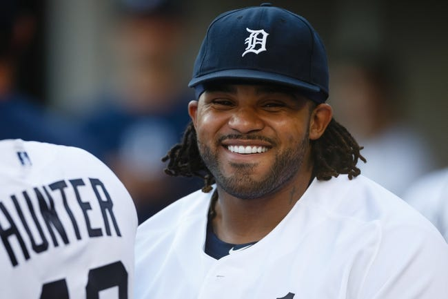 Aug 3, 2013; Detroit, MI, USA; Detroit Tigers first baseman Prince Fielder (28) in the dugout against the Chicago White Sox at Comerica Park. Mandatory Credit: Rick Osentoski-USA TODAY Sports
