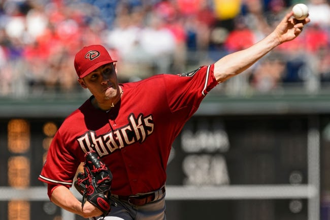 Aug 25, 2013; Philadelphia, PA, USA; Arizona Diamondbacks pitcher Patrick Corbin (46) delivers to the plate during the third inning against the Philadelphia Phillies at Citizens Bank Park. Mandatory Credit: Howard Smith-USA TODAY Sports