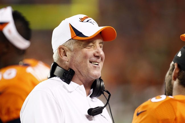 Aug 29, 2013; Denver, CO, USA; Denver Broncos head coach John Fox in the third quarter against the Arizona Cardinals at Sports Authority Field at Mile High. The Cardinals won 32-24. Mandatory Credit: Isaiah J. Downing-USA TODAY Sports