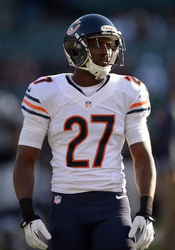 Aug 23, 2013; Oakland, CA, USA; Chicago Bears cornerback Sherrick McManis (27) against the Oakland Raiders at O.co Coliseum. Mandatory Credit: Kirby Lee-USA TODAY Sports