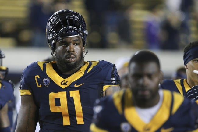 Aug 31, 2013; Berkeley, CA, USA; California Golden Bears defensive lineman Deandre Coleman (91) after the loss to the Northwestern Wildcats during the fourth quarter at Memorial Stadium. Northwestern won 44-30. Mandatory Credit: Kelley L Cox-USA TODAY Sports
