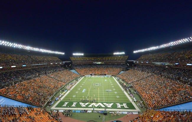 Aug 29, 2013; Honolulu, HI, USA; General view of the NCAA football game between the Southern California Trojans and the Hawaii Rainbow Warriors at Aloha Stadium. USC defeated Hawaii 30-13. Mandatory Credit: Kirby Lee-USA TODAY Sports