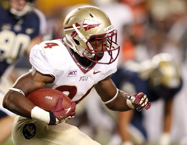 Sep 2, 2013; Pittsburgh, PA, USA; Florida State Seminoles running back Ryan Green (24) rushes the ball against the Pittsburgh Panthers during the fourth quarter at Heinz Field. The Florida State Seminoles won 41-13. Mandatory Credit: Charles LeClaire-USA TODAY Sports