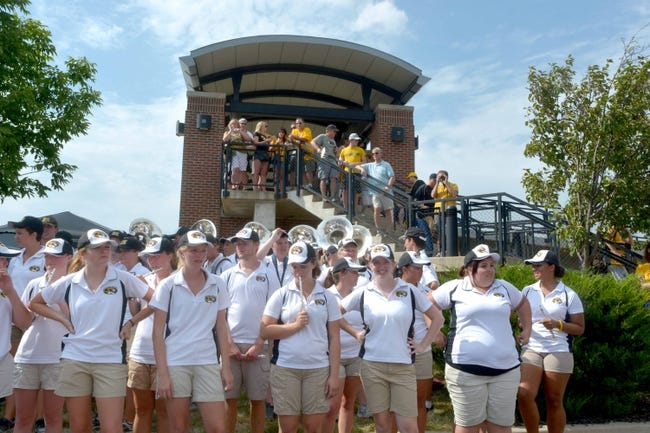 Aug 31, 2013; Columbia, MO, USA; Missouri Tigers fans and members of the marching band wait for the ritual tiger walk before the game against the Murray State Racers at Faurot Field. Missouri won 58-14. Mandatory Credit: Denny Medley-USA TODAY Sports