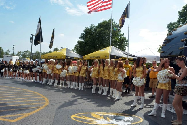 Aug 31, 2013; Columbia, MO, USA; Missouri Tigers fans, golden girls and cheerleaders wait for the ritual tiger walk before the game against the Murray State Racers at Faurot Field. Missouri won 58-14. Mandatory Credit: Denny Medley-USA TODAY Sports