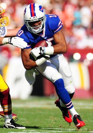 Aug 24, 2013; Landover, MD, USA; Buffalo Bills wide receiver Robert Woods (10) at FedEx Field. Mandatory Credit: Evan Habeeb-USA TODAY Sports