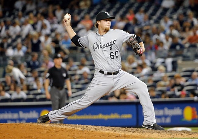 Sep 4, 2013; Bronx, NY, USA;  Chicago White Sox relief pitcher Daniel Webb (60) pitches during the seventh inning against the New York Yankees at Yankee Stadium. Yankees won 6-5.  Mandatory Credit: Anthony Gruppuso-USA TODAY Sports