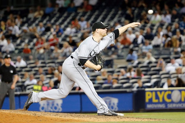 Sep 4, 2013; Bronx, NY, USA;  Chicago White Sox relief pitcher David Purcey (41) delivers a pitch during the eighth inning against the New York Yankees at Yankee Stadium. Yankees won 6-5.  Mandatory Credit: Anthony Gruppuso-USA TODAY Sports