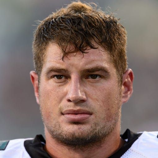 Aug 9, 2013; Philadelphia, PA, USA; Philadelphia Eagles tight end Brent Celek (87) prior to playing the New England Patriots at Lincoln Financial Field. The Patriots defeated the Eagles 31-22. Mandatory Credit: Howard Smith-USA TODAY Sports