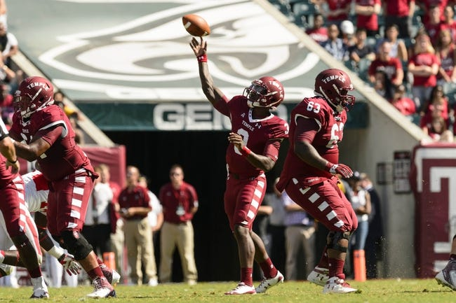 Sep 7, 2013; Philadelphia, PA, USA; Temple Owls quarterback Clinton Granger (3) passes the ball during the fourth quarter against the Houston Cougars at Lincoln Financial Field. Houston defeated temple 22-13. Mandatory Credit: Howard Smith-USA TODAY Sports