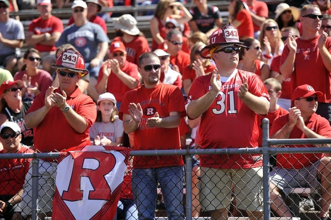 Sep 7, 2013; Piscataway, NJ, USA; First responders are saluted by fans during the first half of the Rutgers Scarlet Knights and Norfolk State Spartans game at High Point Solutions Stadium. Rutgers won the game 38-0. Mandatory Credit: Joe Camporeale-USA TODAY Sports