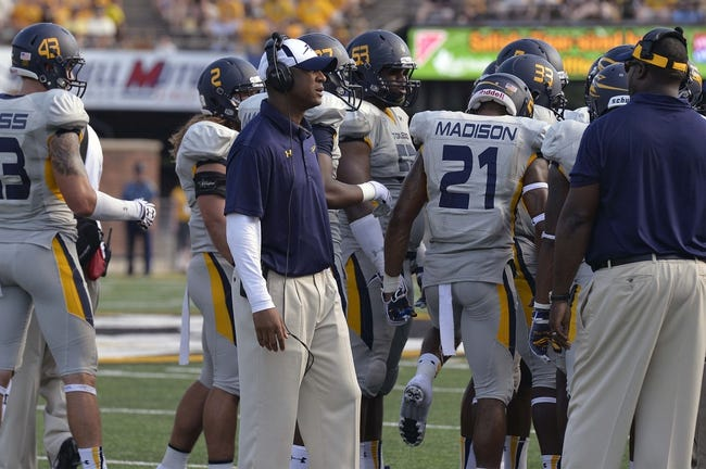 Sep 7, 2013; Columbia, MO, USA;  Toledo Rockets head coach Matt Campbell as seen in a time out during the second half against the Missouri Tigers. Missouri defeats Toledo 38-23 at Faurot Field . Mandatory Credit: Jasen Vinlove-USA TODAY Sports