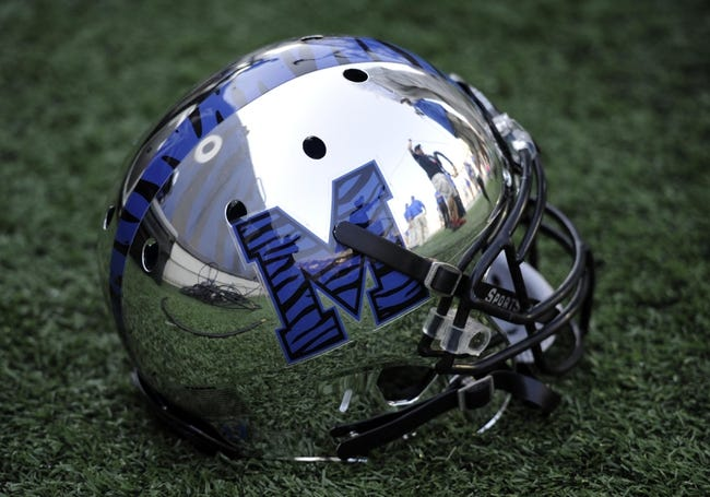 Sep 7, 2013; Memphis, TN, USA; Memphis Tigers helmet during the game against the Duke Blue Devils at Liberty Bowl Memorial. Mandatory Credit: Justin Ford-USA TODAY Sports