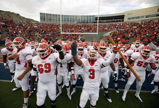 Sep 7, 2013; El Paso, TX, USA; UTEP Miners defensive back Traun Roberson (3) holds the Miner Pick moments before running onto the field to face the New Mexico Lobos at Sun Bowl Stadium. The Lobos beat the Miners 42-35 in overtime. Mandatory Credit: Ivan Pierre Aguirre-USA TODAY Sports