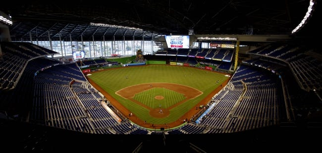 Sep 8, 2013; Miami, FL, USA;  A general view of Marlins Park before a game between the Washington Nationals and Miami Marlins.  Mandatory Credit: Robert Mayer-USA TODAY Sports