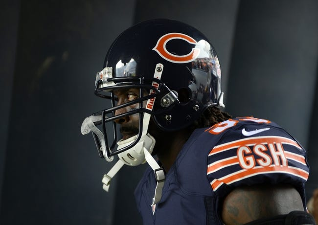 Sep 8, 2013; Chicago, IL, USA;  Chicago Bears cornerback Charles Tillman (33) takes the field against the Cincinnati Bengals at Soldier Field. Chicago defeats Cincinnati 24-21. Mandatory Credit: Mike DiNovo-USA TODAY Sports