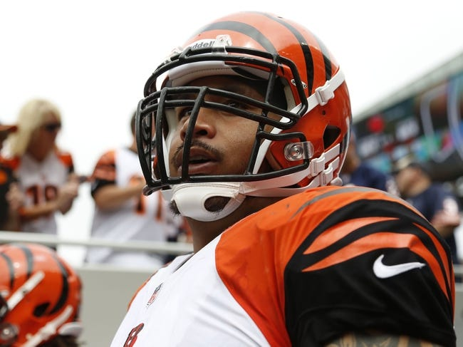 Sep 8, 2013; Chicago, IL, USA; Cincinnati Bengals middle linebacker Rey Maualuga (58) prior to a game against the Chicago Bears at Soldier Field. Chicago won 24-21. Mandatory Credit: Dennis Wierzbicki-USA TODAY Sports