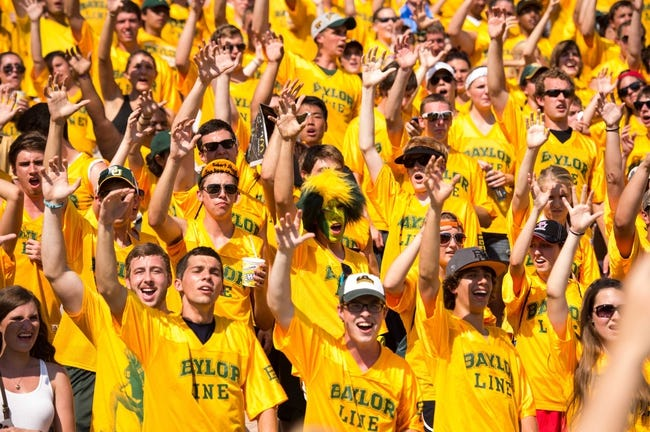 Sep 7, 2013; Waco, TX, USA; The Baylor Bears student section during the game between the Bears and the Buffalo Bulls at Floyd Casey Stadium. The Bears defeated the Bulls 70-13. Mandatory Credit: Jerome Miron-USA TODAY Sports