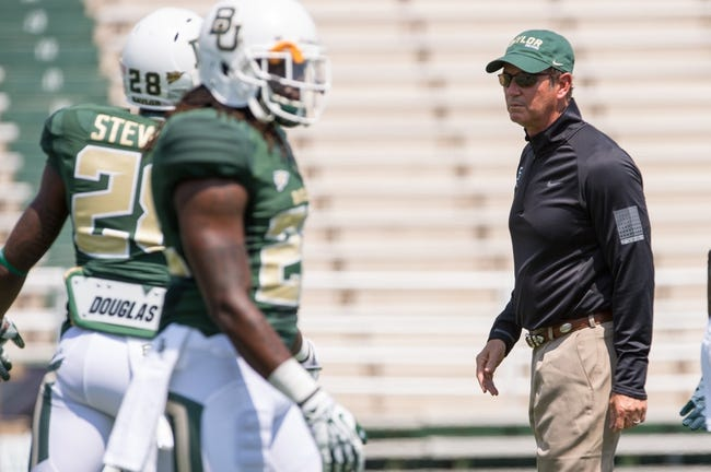 Sep 7, 2013; Waco, TX, USA; Baylor Bears head coach Art Briles before the game against the Buffalo Bulls at Floyd Casey Stadium. The Bears defeated the Bulls 70-13. Mandatory Credit: Jerome Miron-USA TODAY Sports