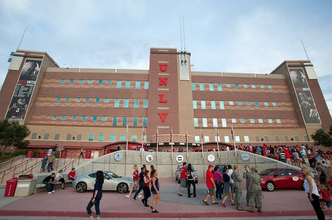 Sep 7, 2013; Las Vegas, NV, USA; Football fans gather at the entrance of Sam Boyd Stadium before the start of the UNLV Rebels home opener against the Arizona Wildcats. Mandatory Credit: Stephen R. Sylvanie-USA TODAY Sports