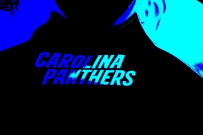 Sep 8, 2013; Charlotte, NC, USA; A Carolina Panthers jersey at Bank of America Stadium. Editors note; This image was altered with filters in photoshop. Mandatory Credit: Bob Donnan-USA TODAY Sports
