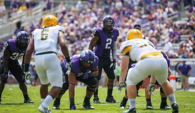 Sep 7, 2013; Fort Worth, TX, USA; TCU Horned Frogs quarterback Trevone Boykin (2) calls a play during the game against the Southeastern Louisiana Lions at Amon G. Carter Stadium. Mandatory Credit: Kevin Jairaj-USA TODAY Sports