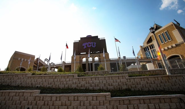 Sep 7, 2013; Fort Worth, TX, USA; General view of Amon G. Carter Stadium before the game between the TCU Horned Frogs and Southeastern Louisiana Lions.  Mandatory Credit: Kevin Jairaj-USA TODAY Sports