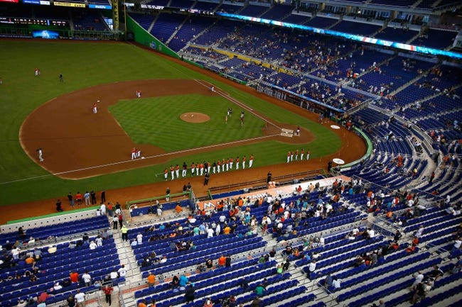 Sep 8, 2013; Miami, FL, USA;  A  general view of Marlins Park before the start of a game between the Washington Nationals and Miami Marlins.  Mandatory Credit: Robert Mayer-USA TODAY Sports